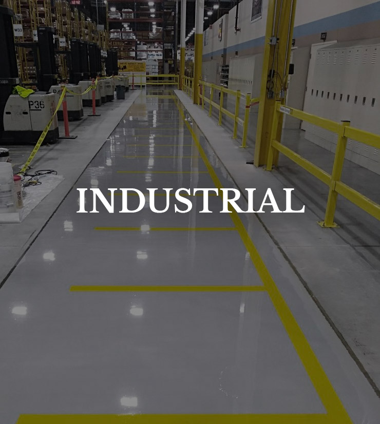 Button to industrial Flooring