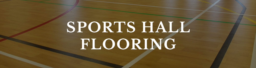 button to sports hall flooring